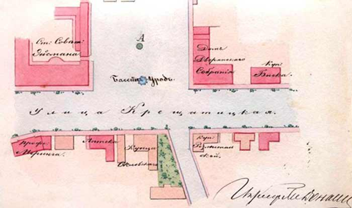 Photo street plan of Khreshchatyk, 1871